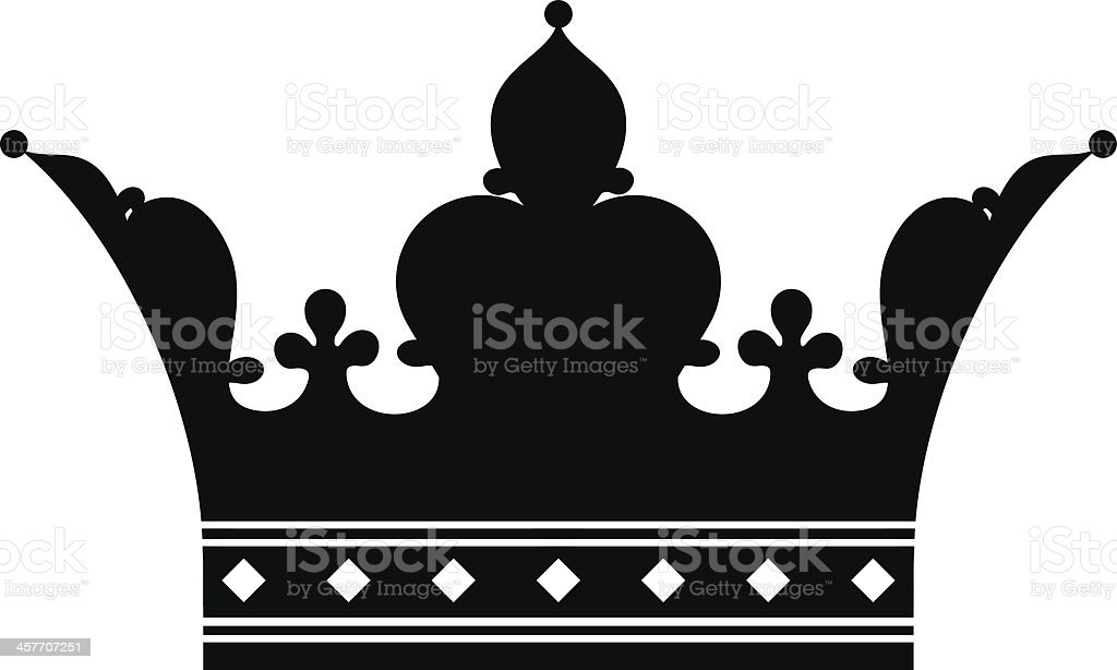 Crown (Silhouette) royalty-free stock vector art