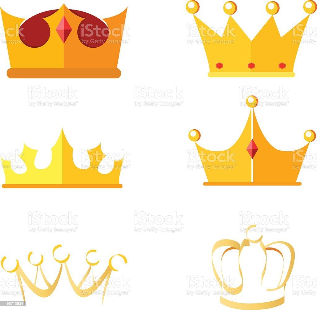Crown vector art illustration