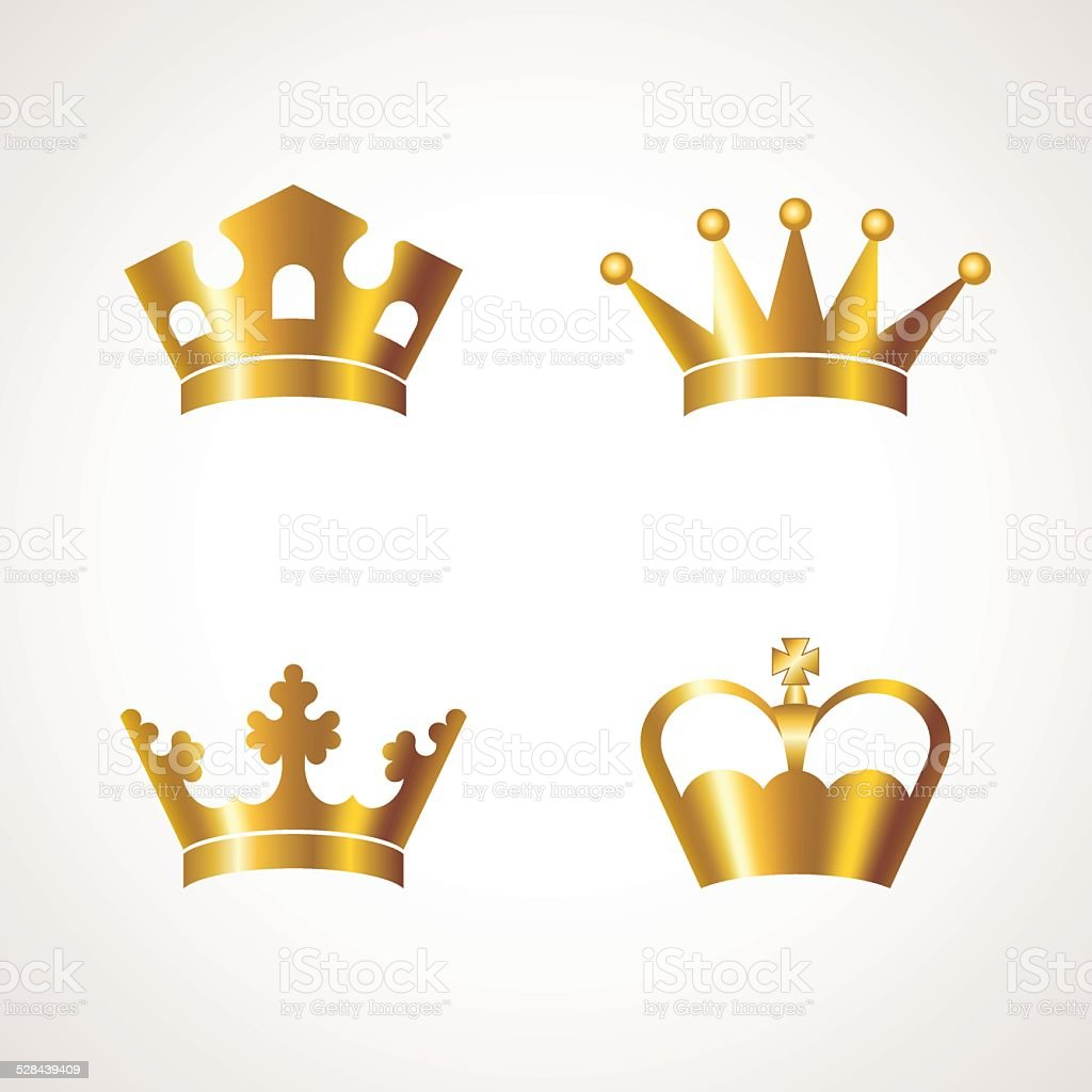 Crown vector art illustration