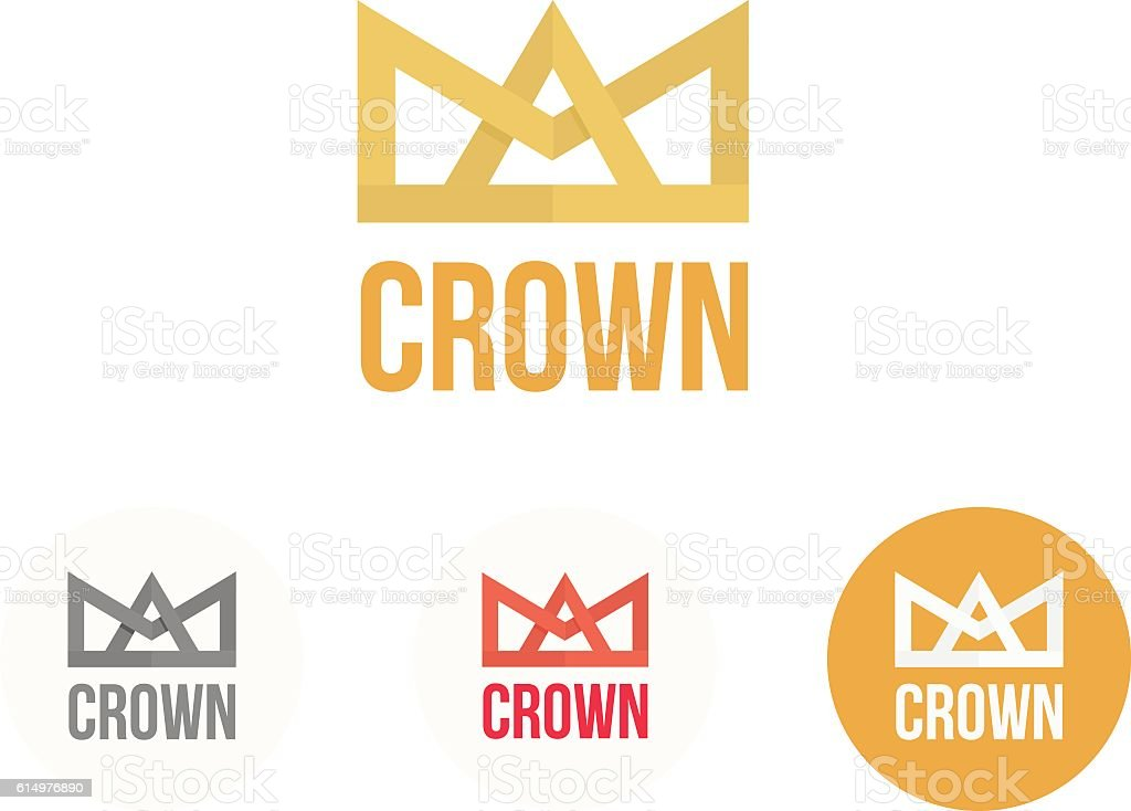 Crown vector logo. Modern colorful reign and power concept vector art illustration