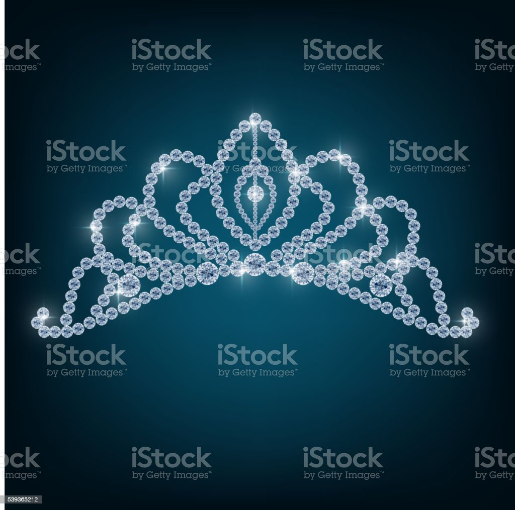 Crown with concepts from diamonds vector art illustration