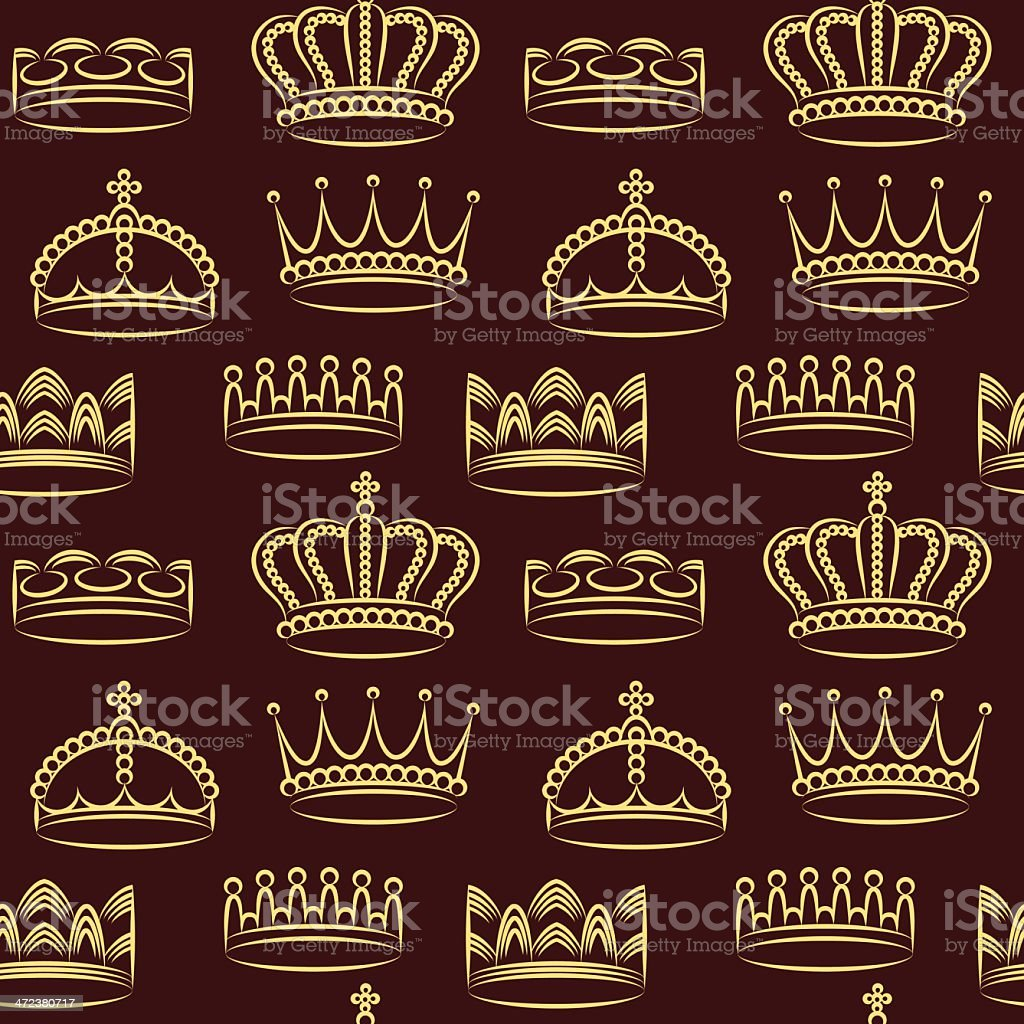 Crowns wallpaper vector art illustration