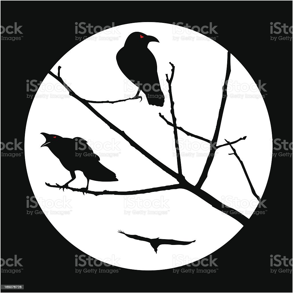 Crows royalty-free stock vector art