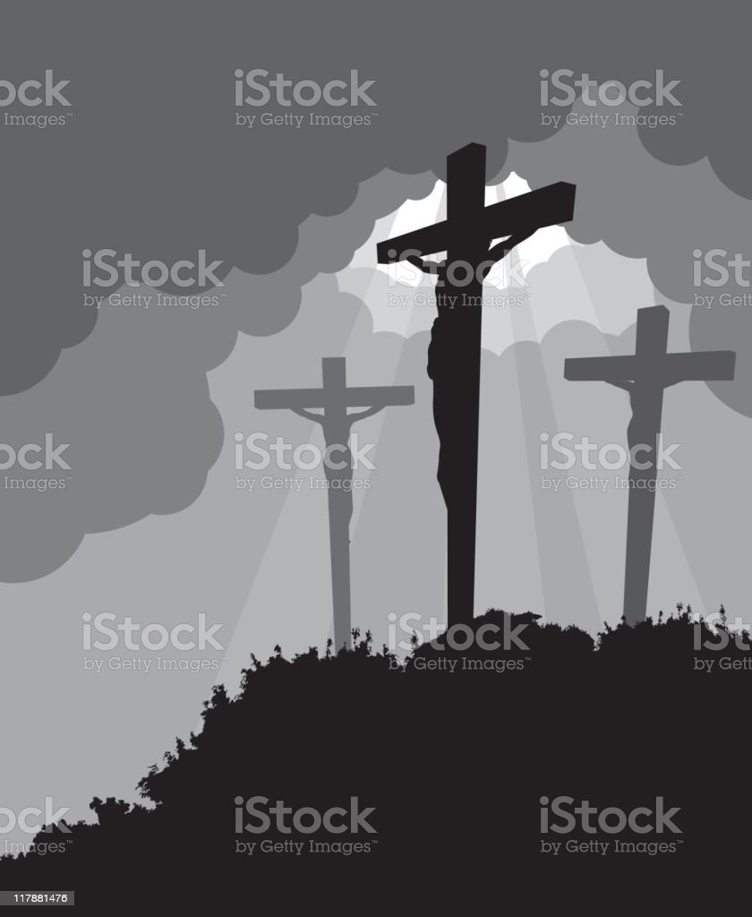 Crucifixion - Easter royalty-free stock vector art