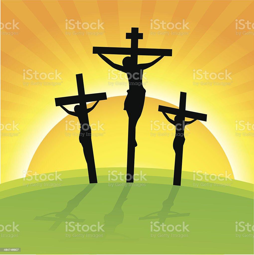 crucifixion, Good Friday royalty-free stock vector art
