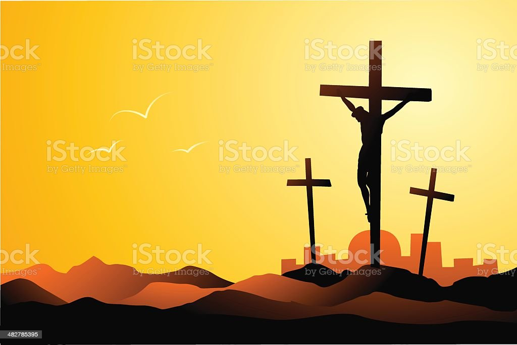 Crucifixion royalty-free stock vector art