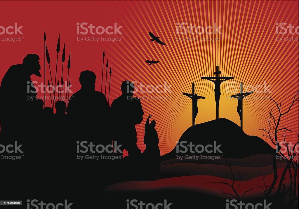 Crucifixion vector art illustration