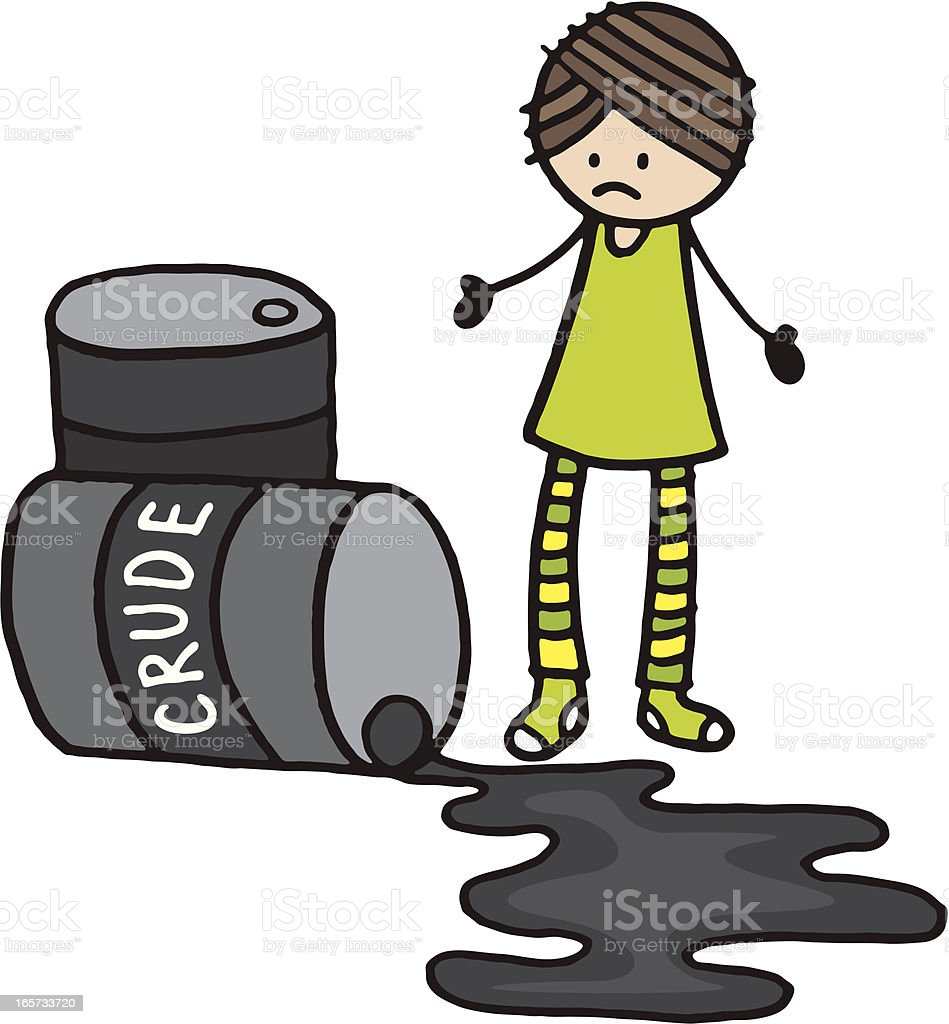 Crude oil spill royalty-free stock vector art