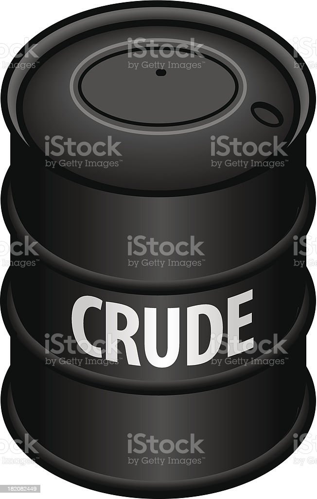 Crude oil royalty-free stock vector art