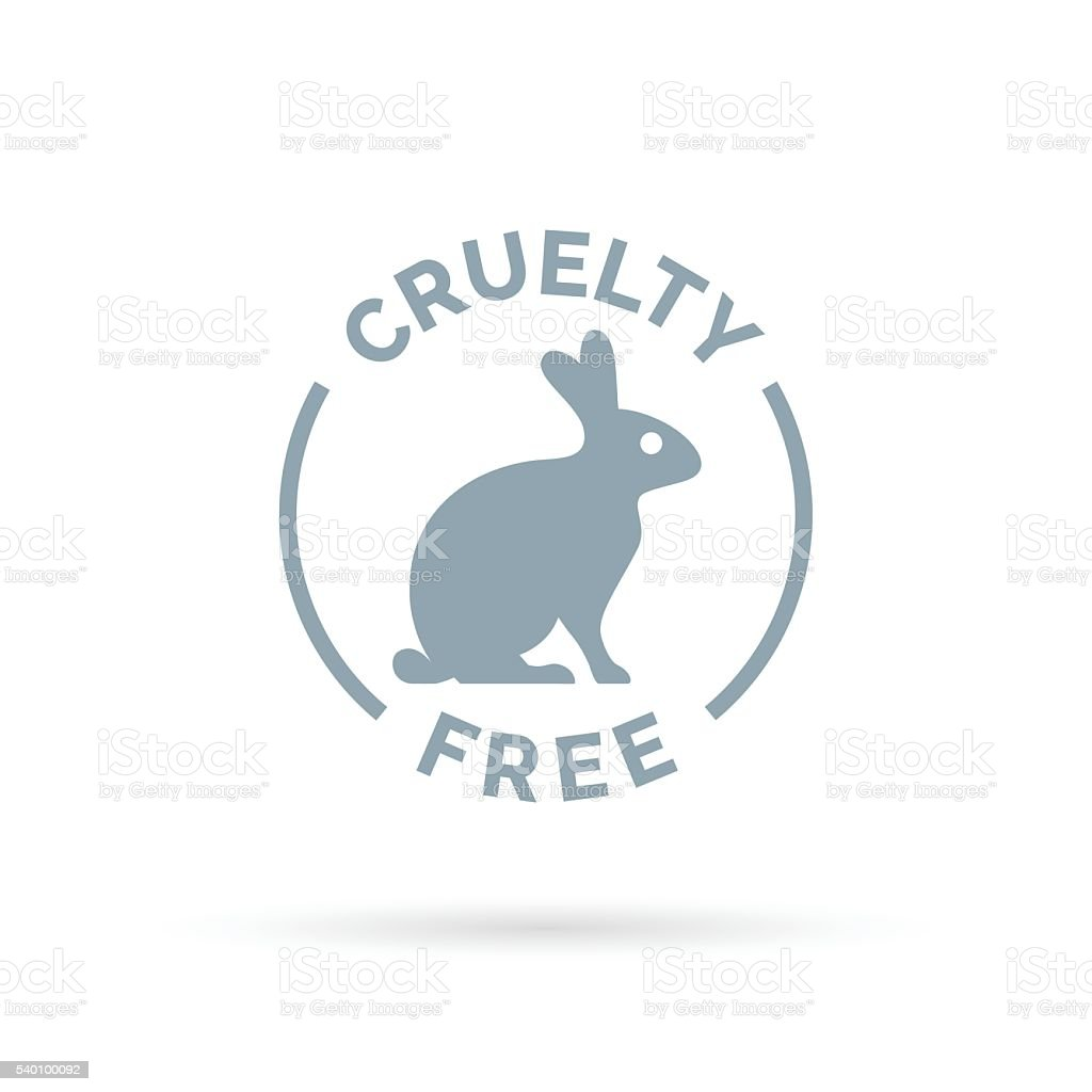 Cruelty free icon design with rabbit silhouette symbol vector art illustration