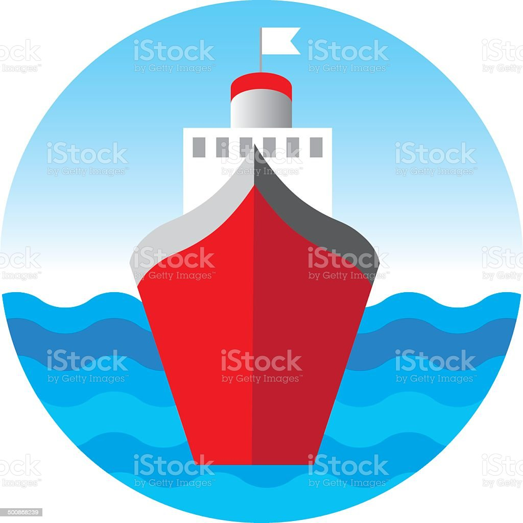 Cruise liner, cruise ship vector illustration vector art illustration