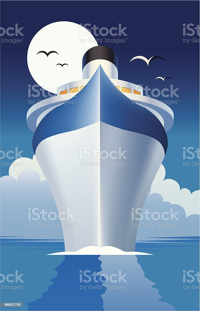 Cruise Liner royalty-free stock vector art