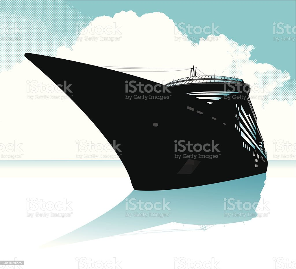 Cruise Ship Graphic Background royalty-free stock vector art