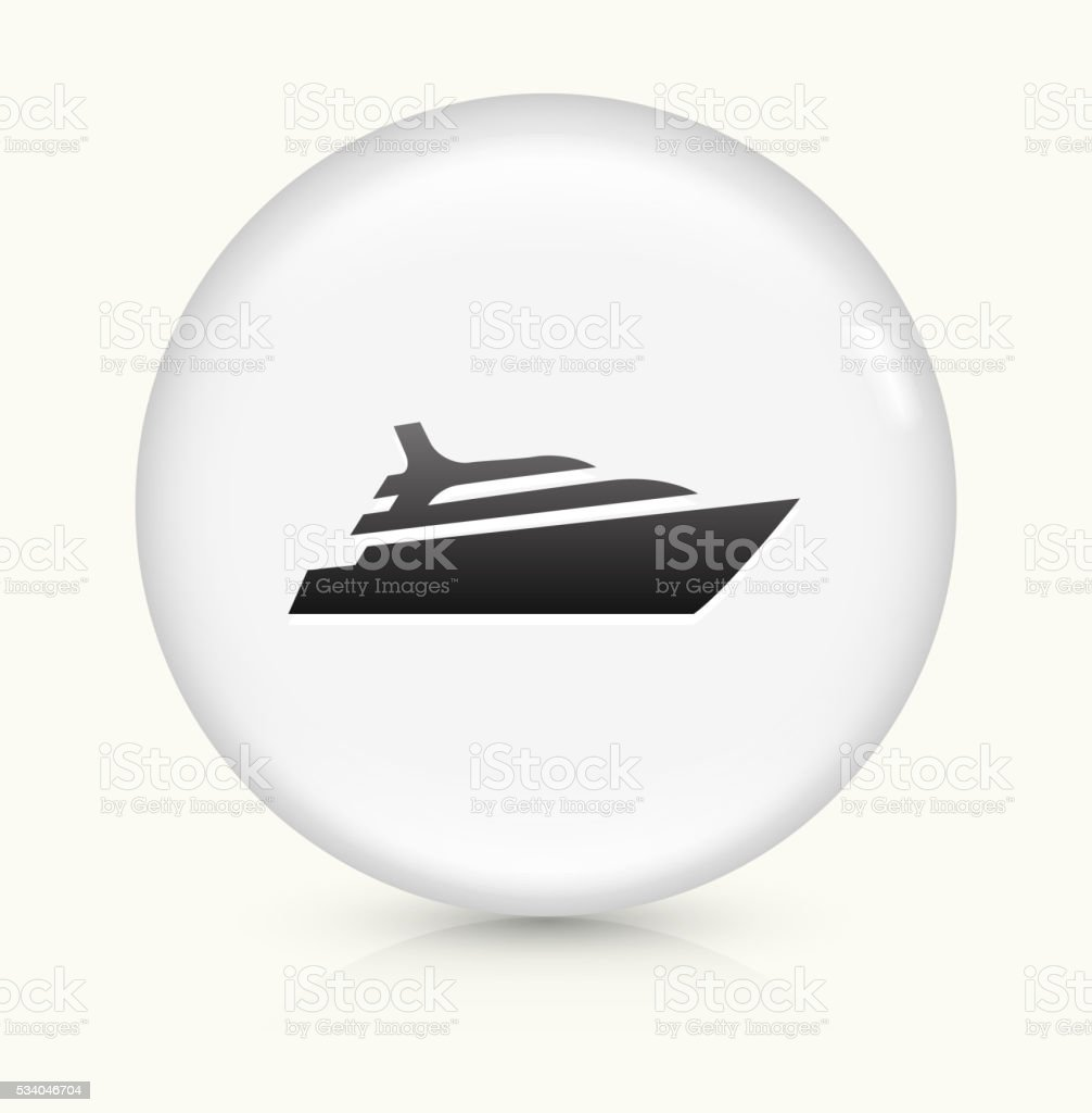 Cruise ship icon on white round vector button vector art illustration