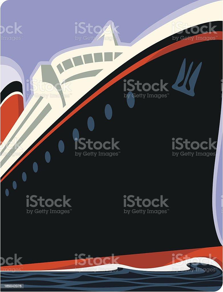 Cruise Ship royalty-free stock vector art