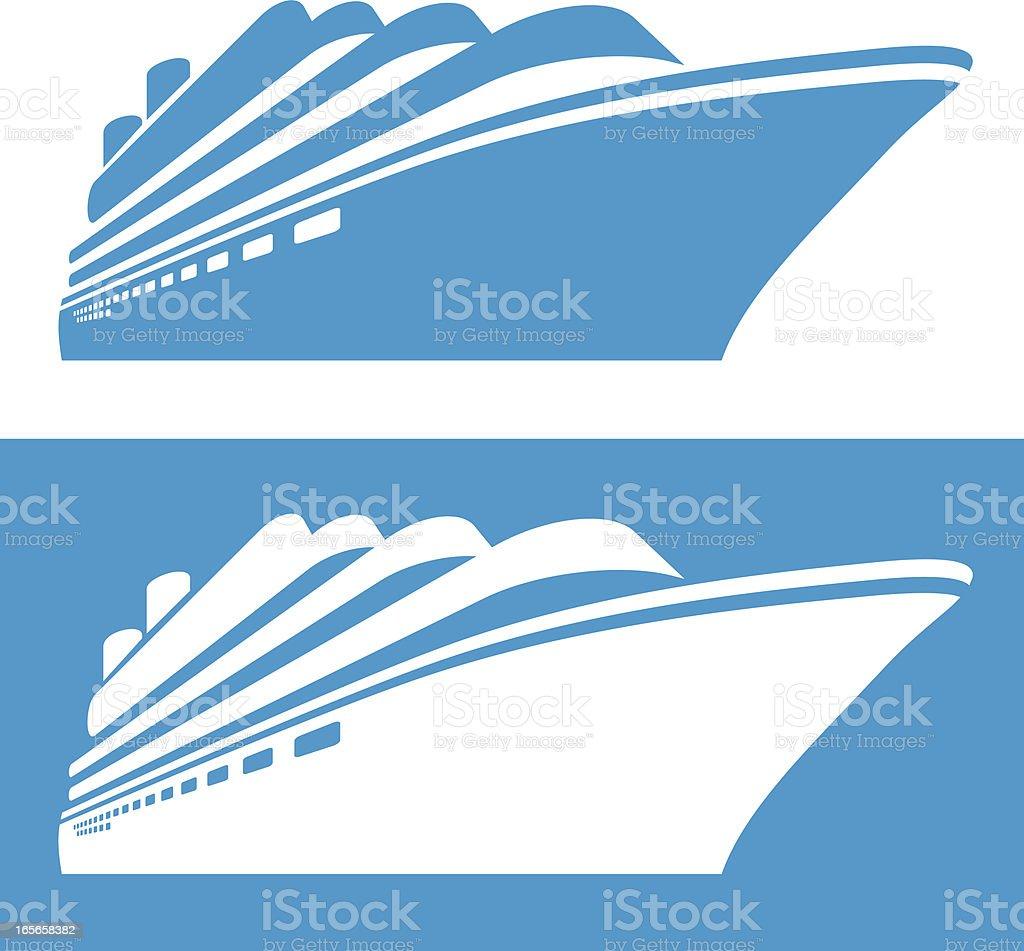 Cruise ship vector art illustration