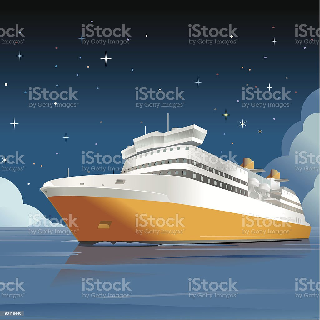 Cruise Ship royalty-free stock vector art