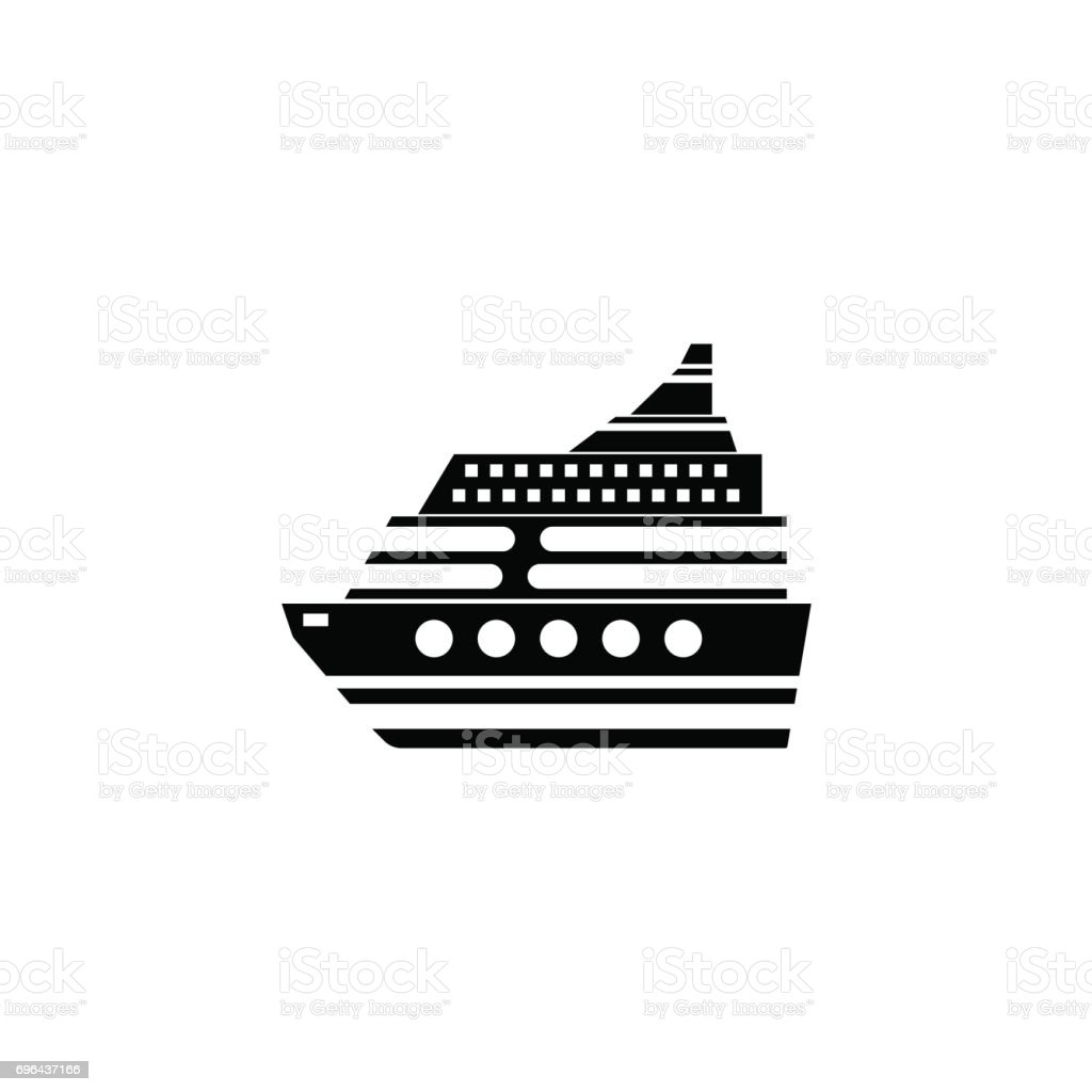 Cruise solid icon, travel tourism vector art illustration