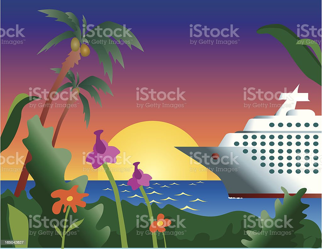 cruise vacation paradise royalty-free stock vector art