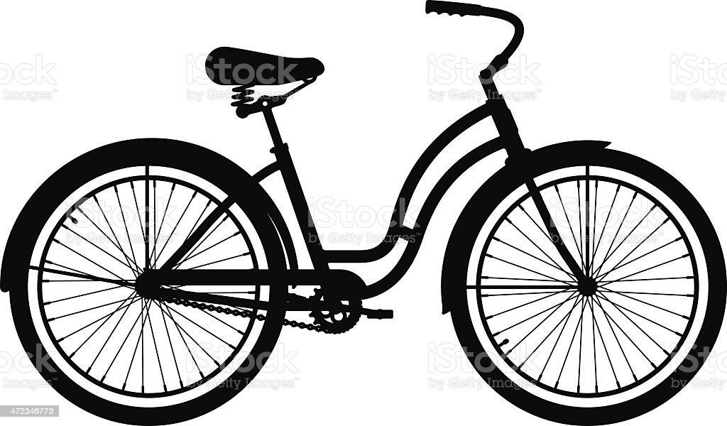 Cruiser Bike royalty-free stock vector art