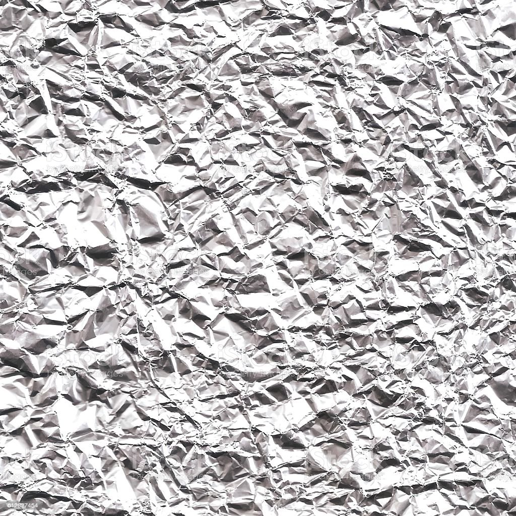 Crumpled Aluminum Foil Texture - Background vector art illustration