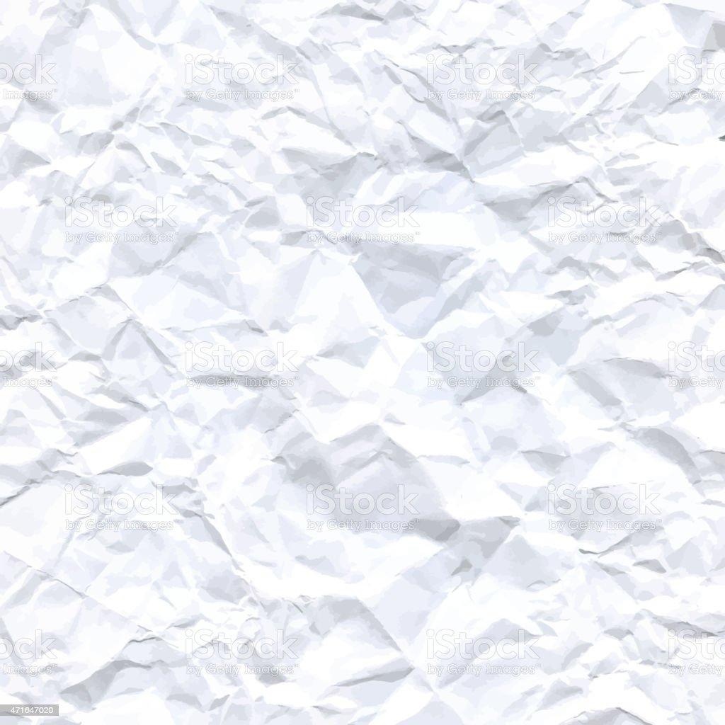 Crumpled paper design. Vector Background illustration. vector art illustration