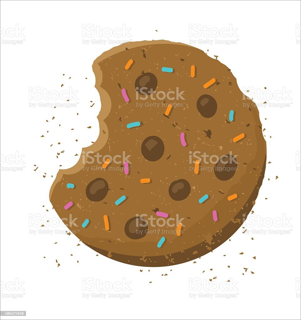 crunch Cookie - illustration vector art illustration