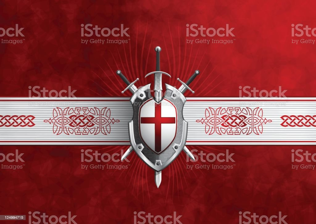 crusade coat of arms vector art illustration