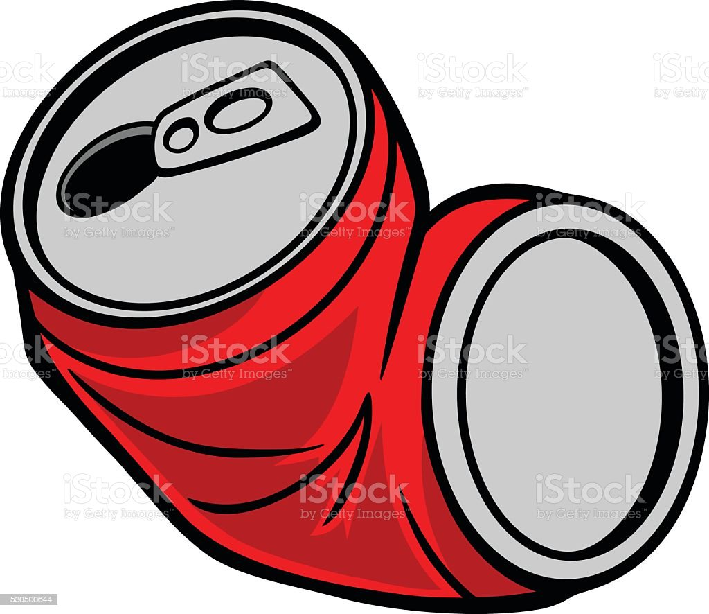 Crushed Can vector art illustration