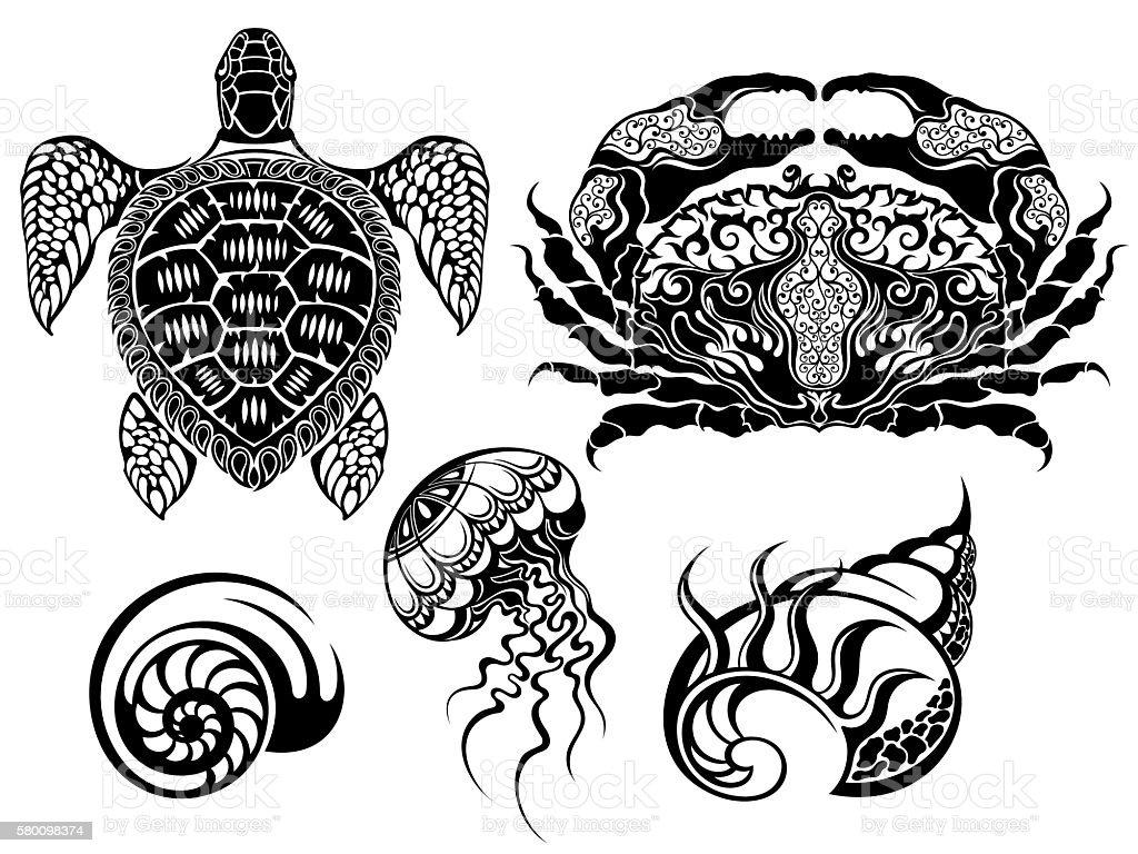 Crustacean Vector illustrations vector art illustration