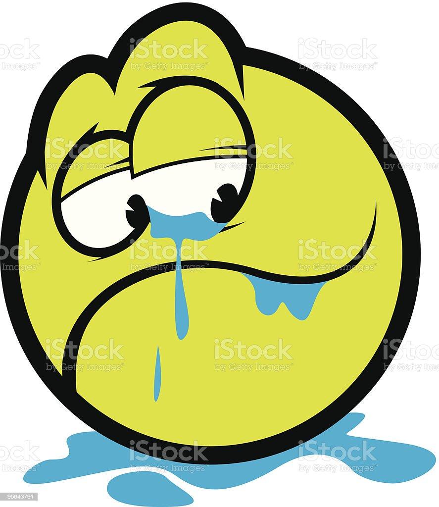 crying vector art illustration