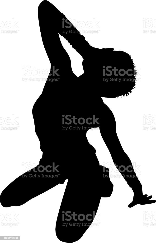 crying woman in ecstasy silhouette royalty-free stock vector art