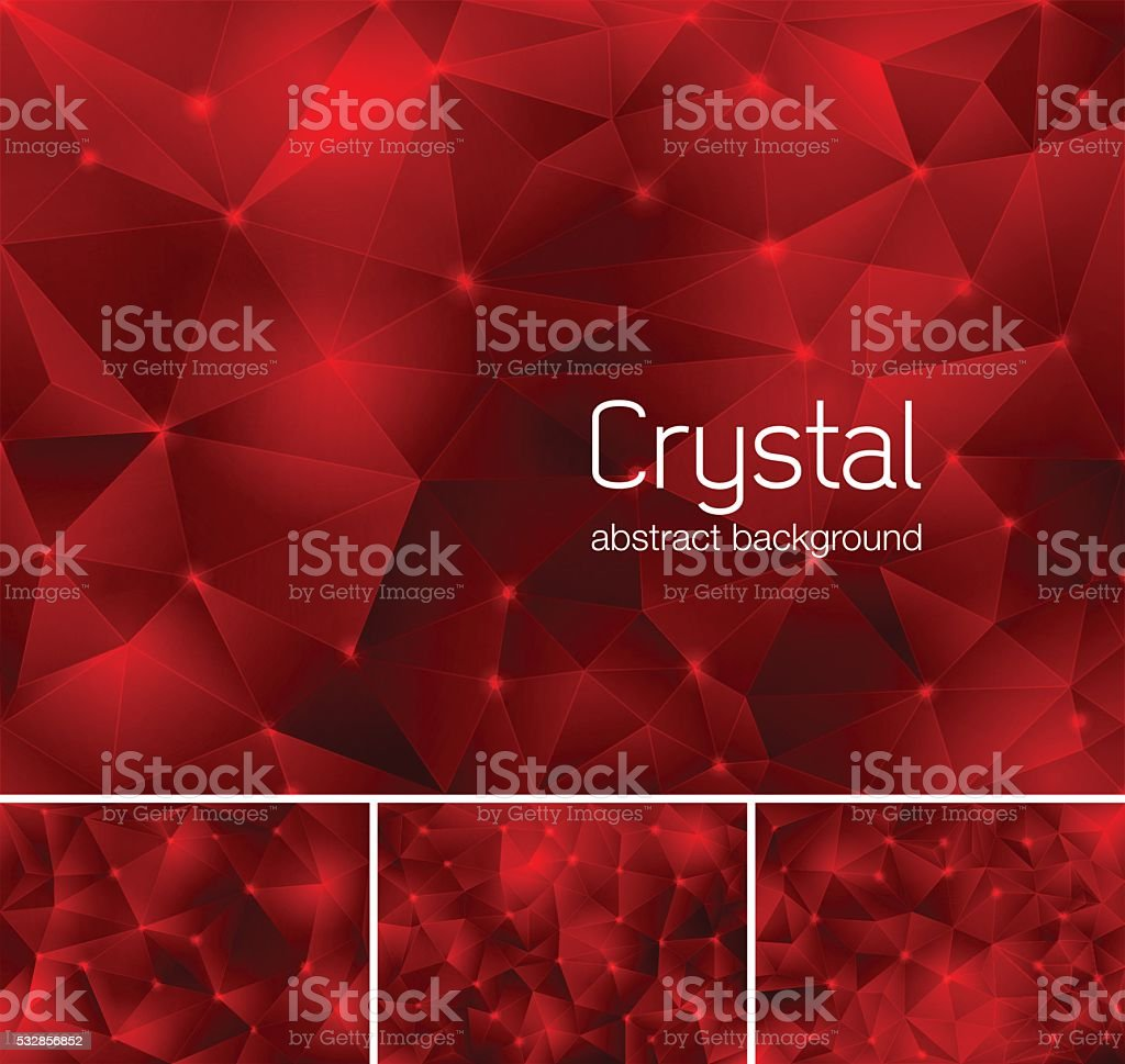 Crystal abstract background vector art illustration