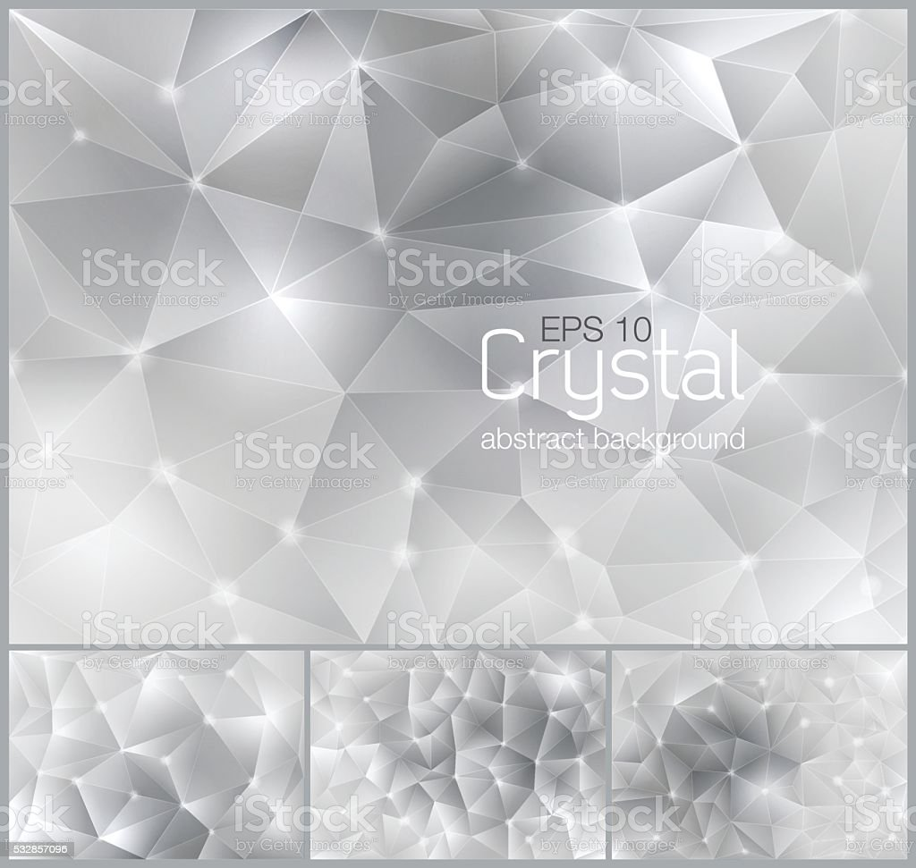 Crystal abstract background. vector art illustration