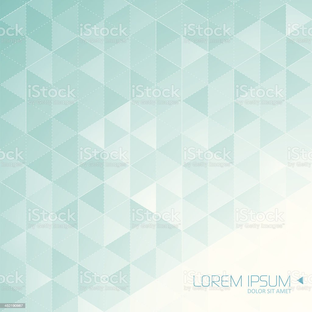 Crystal abstract background with text royalty-free stock vector art
