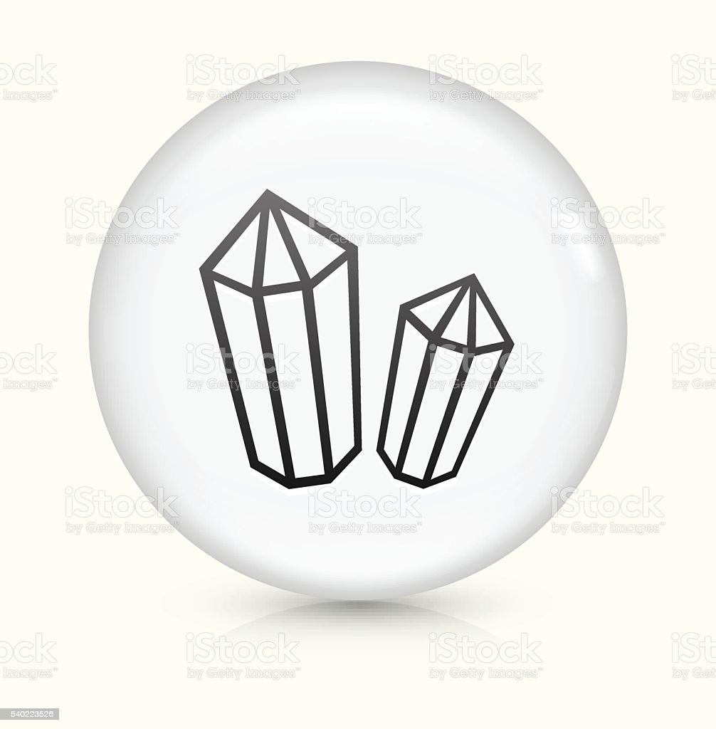 Crystal and Minerals icon on white round vector button vector art illustration