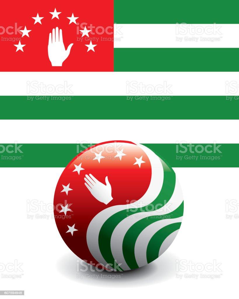 Crystal Ball Flag - Abkhazia vector art illustration