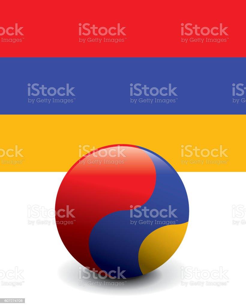 Crystal Ball Flag - Armenia vector art illustration