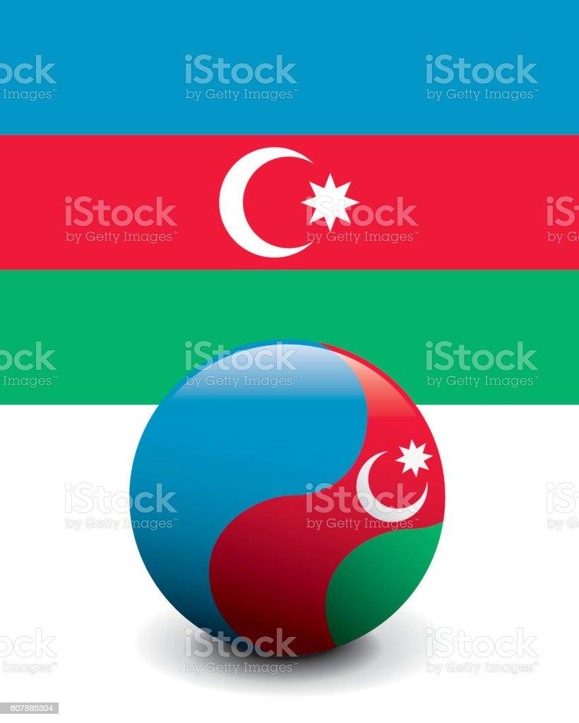 Crystal Ball Flag - Azerbaijan vector art illustration