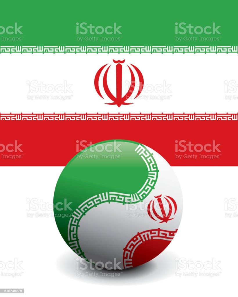 Crystal Ball Flag - Iran vector art illustration