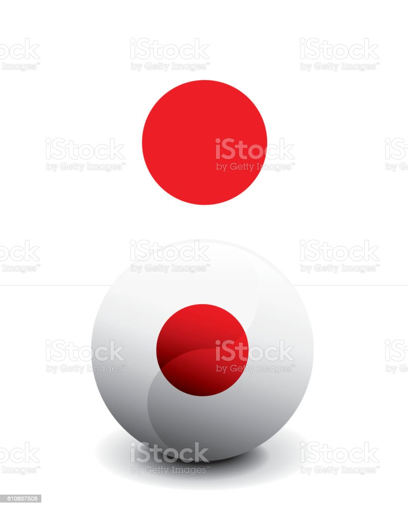 Crystal Ball Flag - Japan vector art illustration