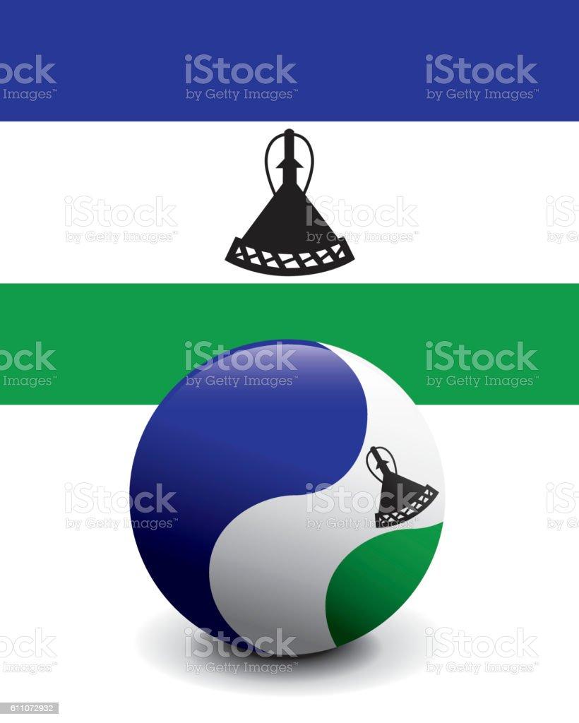 Crystal Ball Flag - Lesotho vector art illustration