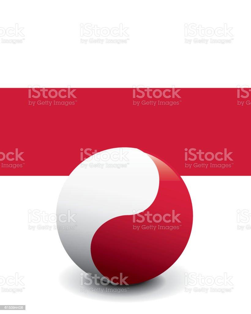 Crystal Ball Flag - Poland vector art illustration
