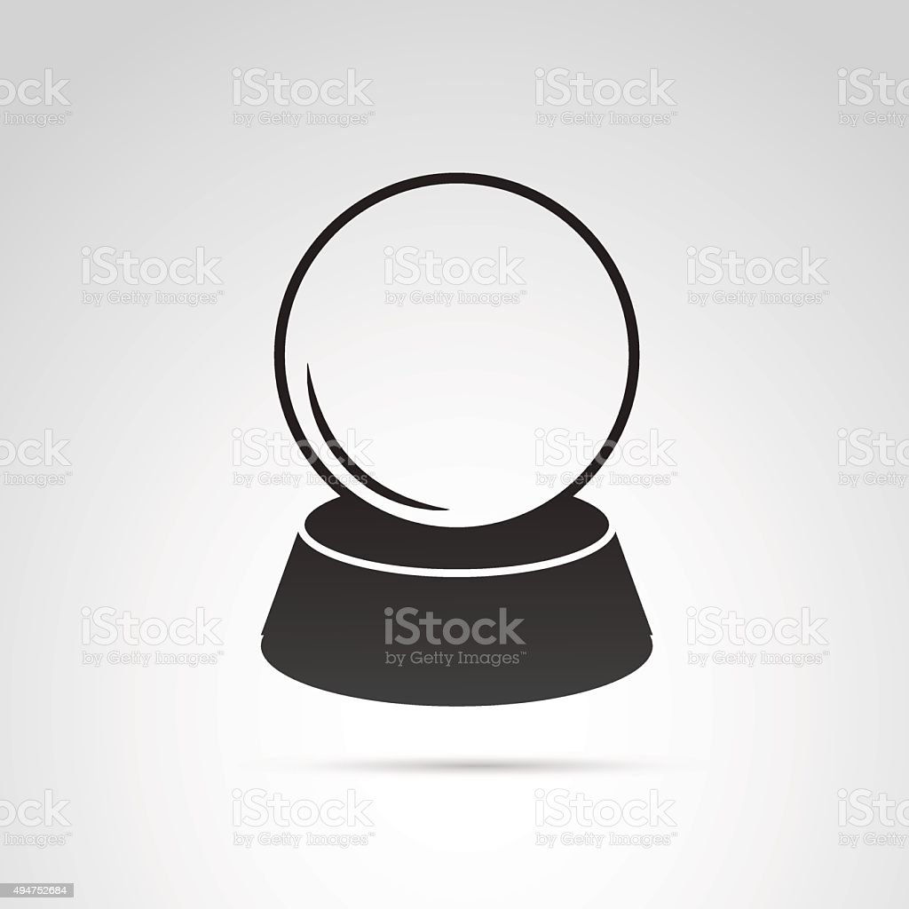 Crystal ball icon isolated on white background. vector art illustration