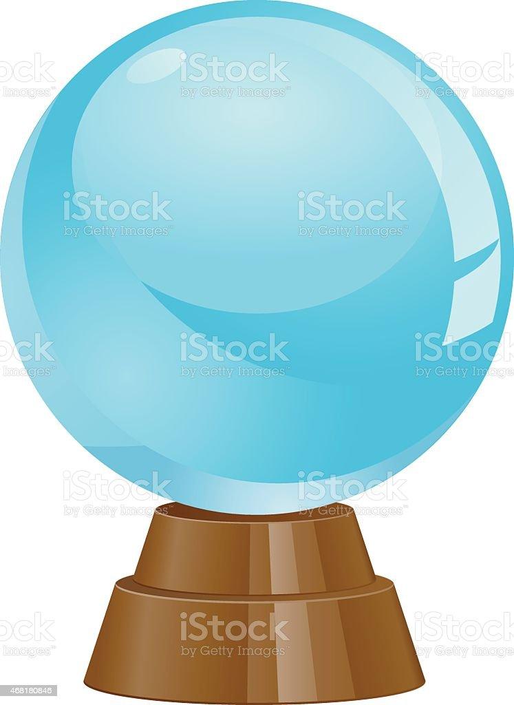 Crystal Ball vector icon vector art illustration
