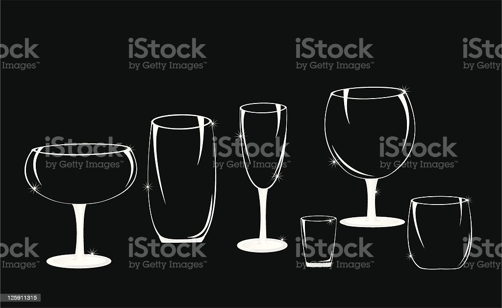 Crystal Glasses royalty-free stock vector art