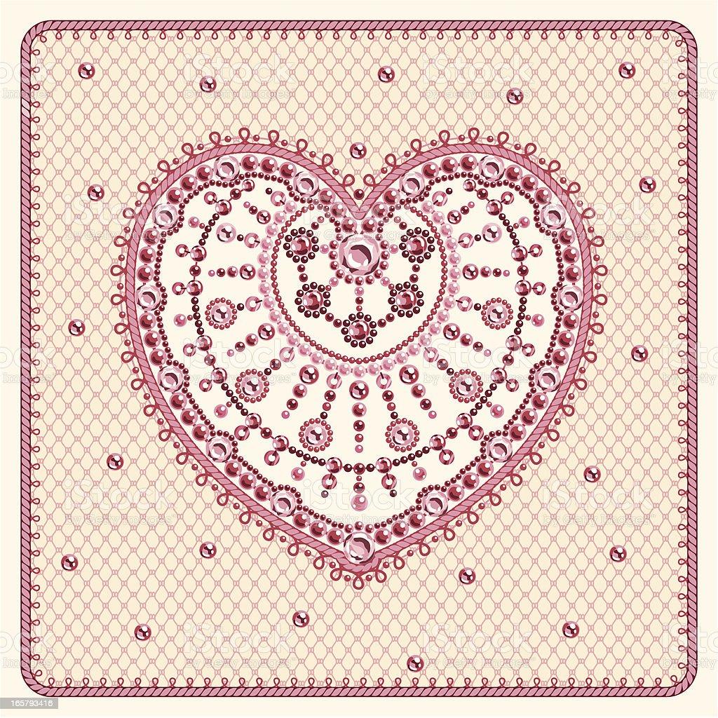 Crystal Heart royalty-free stock vector art