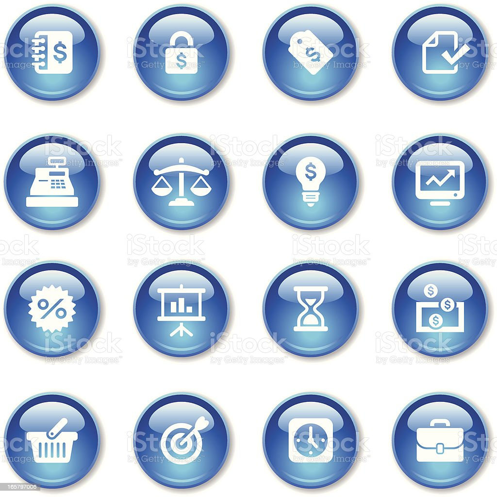 Crystal Icons Set | Banking & Finance royalty-free stock vector art