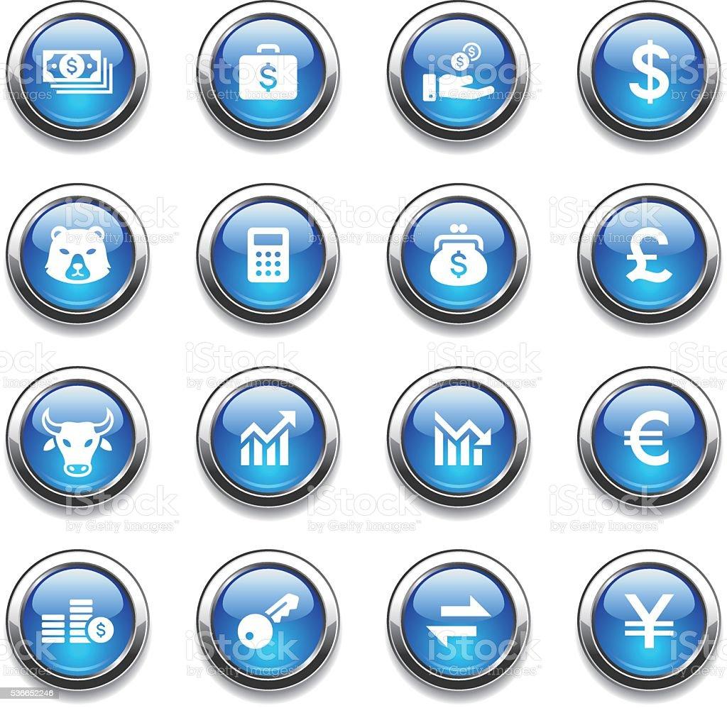 Crystal Icons Set | Banking & Finance vector art illustration
