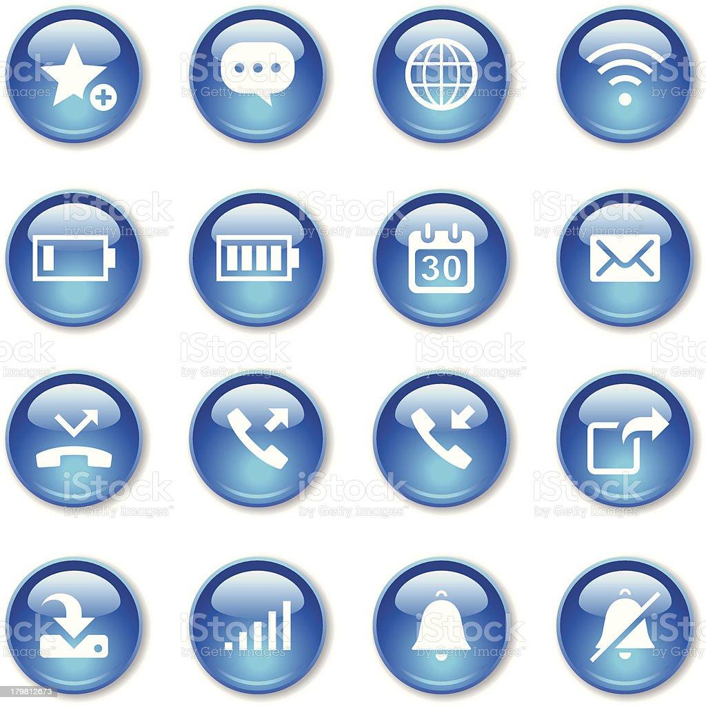 Crystal Icons Set   Communication & Smart Phone royalty-free stock vector art